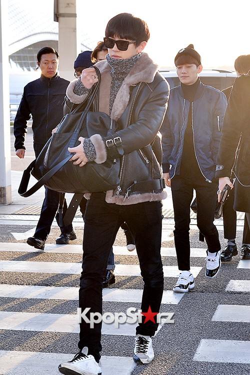 EXO at Incheon International Airport Leaving for 2014 MAMA in Hong Kong key=>15 count22