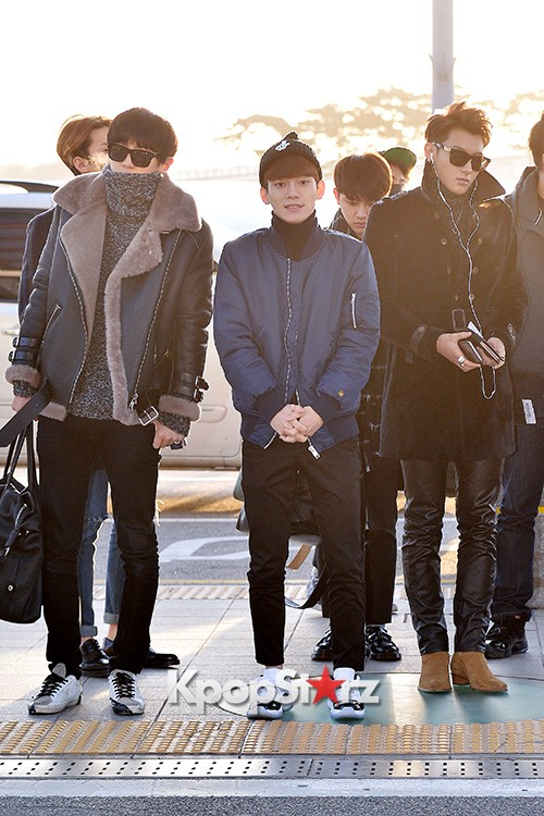 EXO at Incheon International Airport Leaving for 2014 MAMA in Hong Kong key=>16 count22