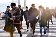 EXO at Incheon International Airport Leaving for 2014 MAMA in Hong Kong