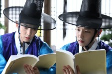 Actor Lee Jun Ki Reads To Beat The Heat  On Set Of 'Arang And The Magistrate'?