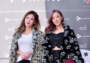 Rainbow's Woori and Jaekyung at First Look Pop-Up Store Launching Event