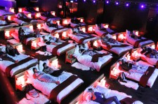 Watching A Movie In The Comfort Of A Cozy Bed... Inside A Cinema?