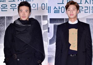Kwon Sang Woo and Park Seo Joon Attend a VIP Premiere of Upcoming Film 'International Market'