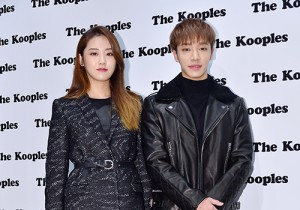 4Minute's Heo Gayoon and BEAST's Lee Gikwang at The Kooples Store Event