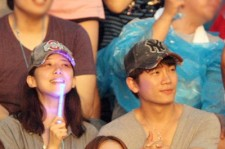 Jisung-Bo Young, BoA Spotted at Psy's Concert