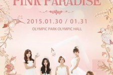 a pink 'pink paradise' poster