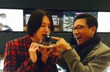 super junior heechul cupcake with lee soo man