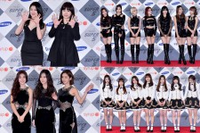 15&, AOA, Girl's Day and Lovelyz at SBS Gayo Daejun Photo Wall