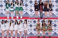Red Velvet, Secret, Apink and Orange Caramel at SBS Gayo Daejun Photo Wall