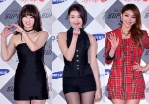 Park Boram, Sunmi and Ailee at SBS Gayo Daejun Photo Wall