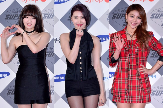 Park Boram, Sunmi and Ailee at SBS Gayo Daejun Photo Wall key=>0 count27