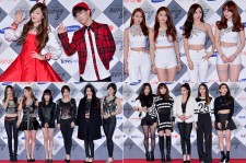 AKMU, Kara, Tara and 4minute at SBS Gayo Daejun Photo Wall