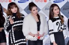 AKMU, Kara, Tara and 4minute at SBS Gayo Daejun Photo Wall