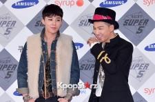 GD X Taeyang at SBS Gayo Daejun Photo Wall