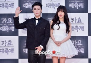 San E & Raina at 2014 KBS Gayo Daechukje Red Carpet