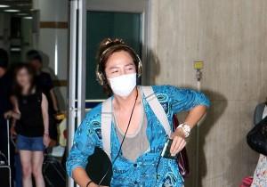Asia's Top Star Jang Keun Suk Back to Korea at Kimpo Airport After 'Summer Sonic 2012' in Japan