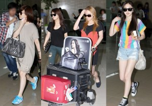 Wonder Girls Fashionable Sunglasses and Comfortable Look at Kimpo Airport after 'JYP Nation' in Japan