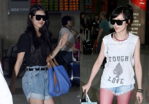 miss A's 'Suzy' and 'Jia' 'We Just Came Back from JYP Nation in Japan, Thank You All' at Kimpo Airport