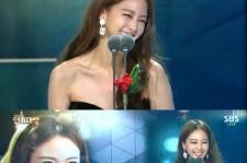 han ye seul thanks teddy during award