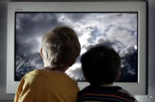 Children Watching Television At Home