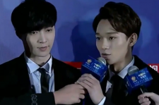 Lay and Chen on the Red Carpet representing EXO-M.