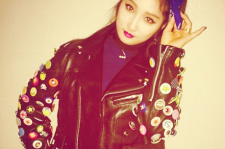 Nam Ji Hyun wishes everyone a Happy New Year from her Instagram in this fierce biker chic look.