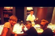 Big Bang's G-Dragon, Taeyang and Daesung Enjoying Sushi Together!