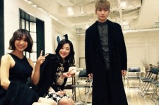 shinee key with sulli and luna