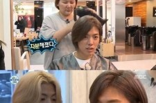kangnam changes his hairstyle