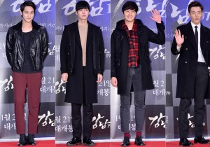 Kim Bum, Ahn Jae Hyun, Jung Il Woo and Choi Jin Hyuk Attend a VIP Premiere of Upcoming Film 'Gangnam 1970'