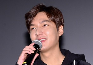 Lee Min Ho at Stage Greeting of Upcoming Film 'Gangnam 1970'