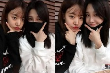 a pink jung eunji and namjoo at concert practice