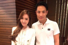 Jessica Jung with PR manager Real Ting
