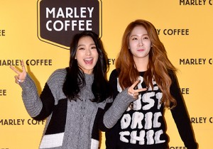 SISTAR's Bora and Soyou at Marley Coffee Launching Event