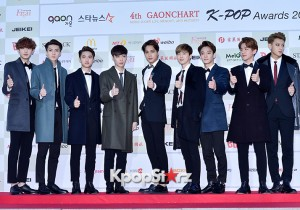 EXO Attends The 4th Gaon Chart Kpop Awards