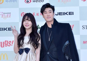 Raind and San E Attend The 4th Gaon Chart Kpop Awards