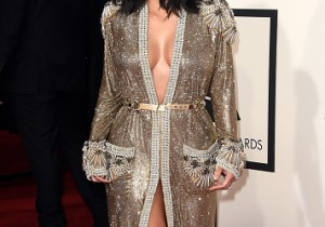 Kim Kardashian at Grammy Awards 2015