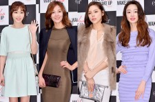 Kang Ye Won, Kim Sung Eun, Park Si Yeon and Choi Yeo Jin at eSpoir 'Wake Up Your Make Up Campaign Photo Wall Event