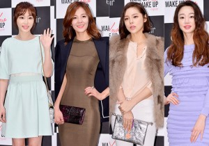 Kang Ye Won, Kim Sung Eun, Park Si Yeon and Choi Yeo Jin at eSpoir 'Wake Up Your Make Up Campaign Photo Wall Event