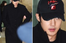 kim hyun joong all-black airport