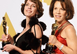 Filmmakers Dana Perry nd Ellen Goosenberg Kent at the Oscars 2015