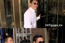 Psy was followed by paparazzi.