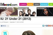 IU Ranks on U.S. Billboard 'Under 21 Musicians' along with Justin Bieber