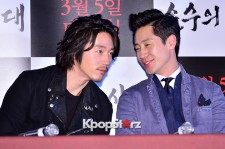 Shin Ha Kyun and Jang Hyuk Attend a Press Conference of Upcoming Film 'Age of Innocence'