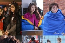 JiYeon, HyoRin, JYP, KaHee - How Stars Keep Warm! On the Scenes of Dream High 2!