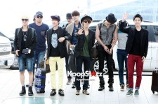 Super Junior at Incheon Airport, leaving for SMTOWN Live Tour3 in Jakarta