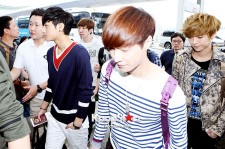 EXO-M at Incheon Airport, leaving for SMTOWN Live Tour3 in Jakarta
