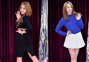 Brown Eyed Girls' Narsha and Kara's Nicole at a Press Conference of MBC Every1 'Match Made in Heaven Returns'