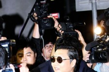 World Star PSY Arrived at Incheon Airport in Korea