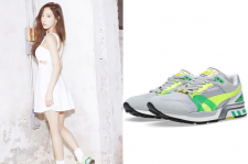 SNSD Kim Taeyeon High Cut March 2015 Fashion Puma Sneakers